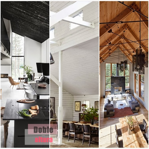 Techos a doble altura decorar tu casa es - Salon doble altura ...