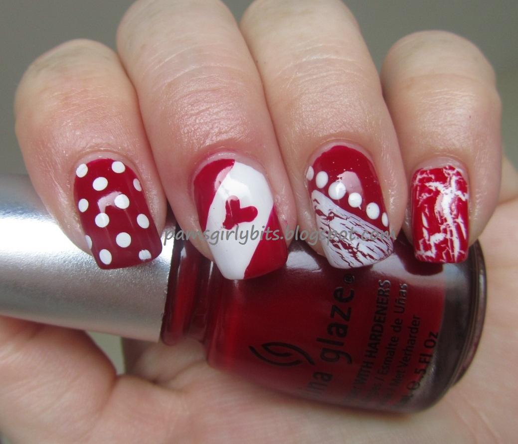 Girly Nail Art: Girly Bits: Canada Day Nail Art