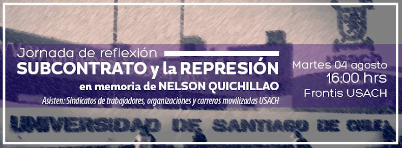 SANTIAGO CENTRO:  JORNADA DE REFLEXIÓN, SUBCONTRATO Y LA REPRESION