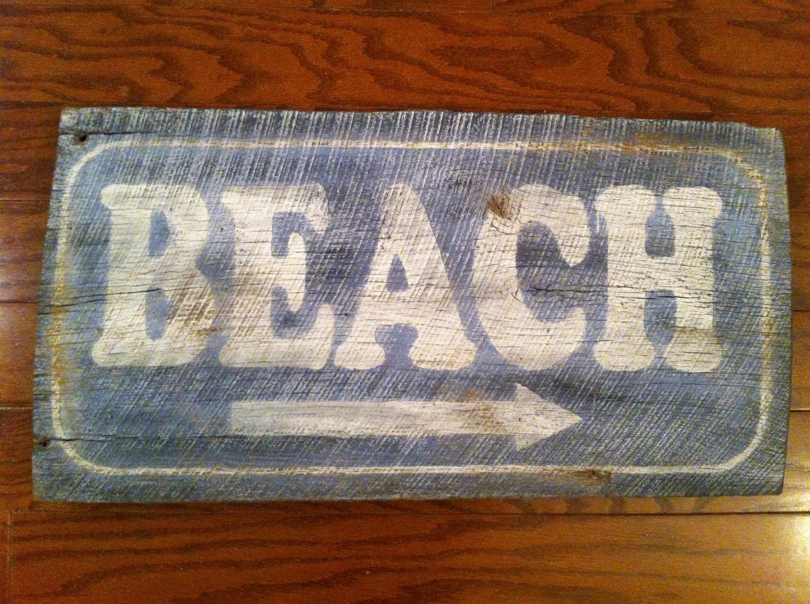 Barn Wood Beach Sign - Beach Cottage Decor