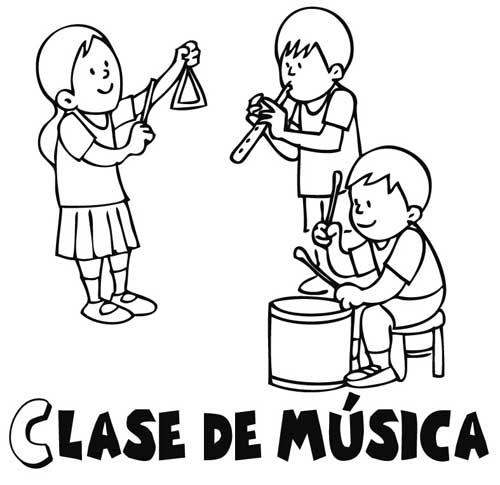 Clase de música para colorear