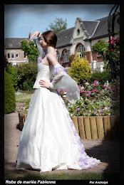 Robe de mariée féerique parme et ivoire : Fabienne