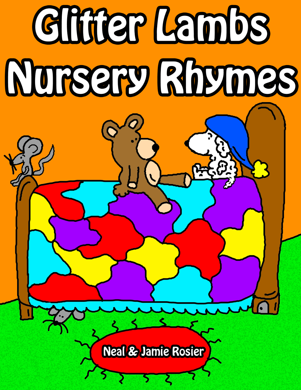 Glitter Lambs Nursery Rhymes Book
