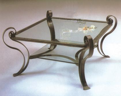 Decoraci n y arquitectura hierro forjado mesas varias for Mesas de hierro forjado