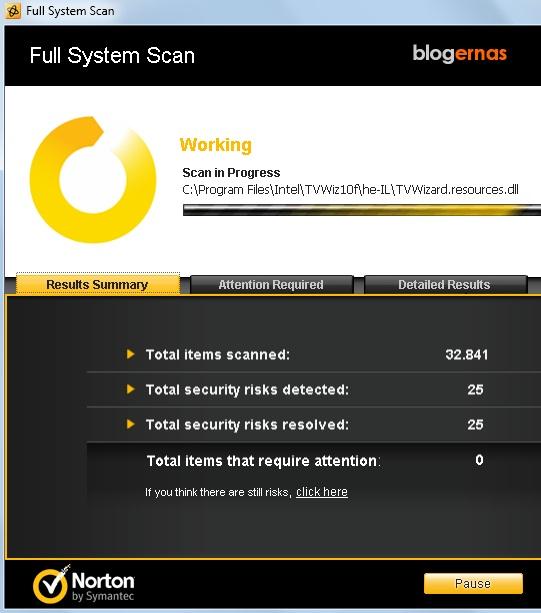 Cara Scan Virus dengan Norton AntiVirus 2012 (Full Gambar Tutorial)