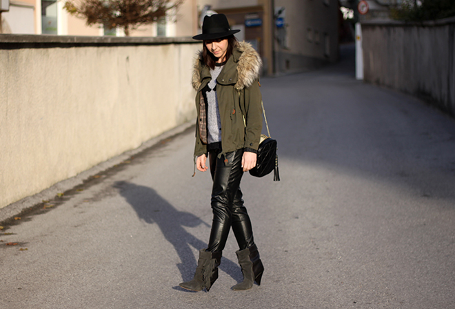 outfit-trend-fashionblogger-lederhose-boyfriend-sammydress-pudelpullover-choies-boots-slouch-isabelmarant-pourhm-parka-zara-fakefur-kragen-tasche-sarenza-stevemadden