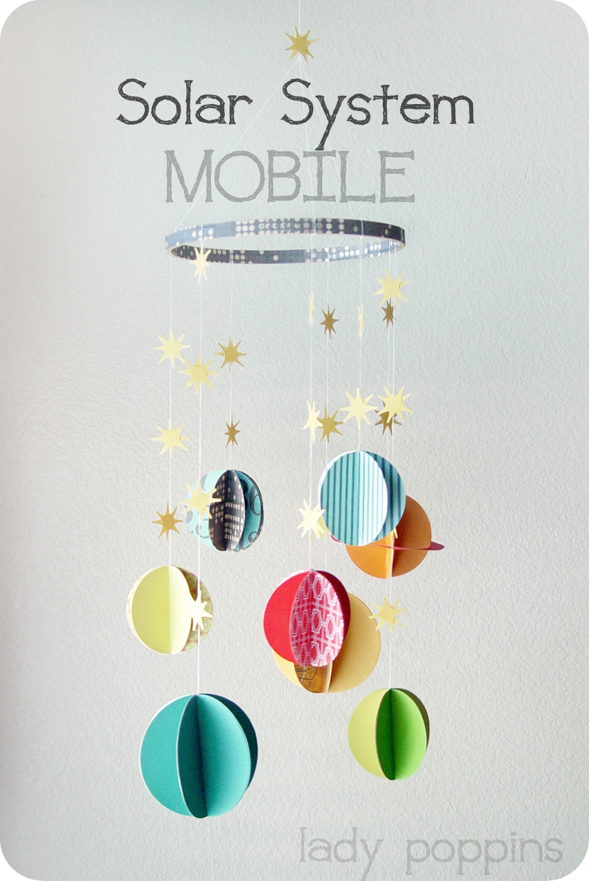 handmade solar system mobile - photo #9
