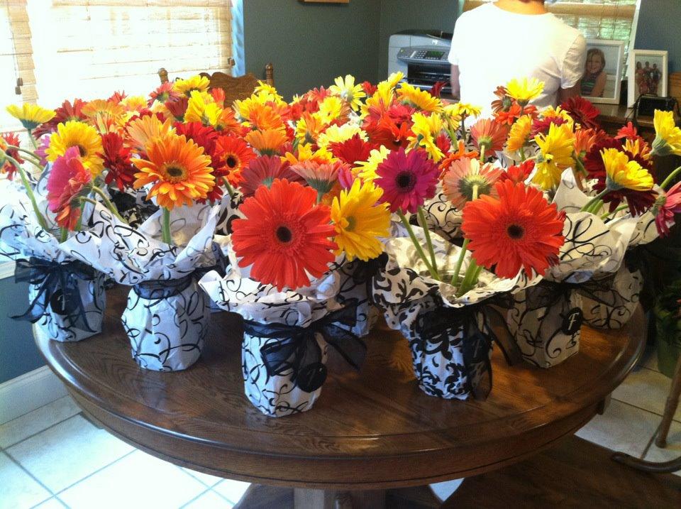 Anything Goes Tissue Paper Wedding Flower Vases