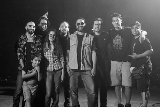 backstage de COLVERO del videoclip EL NEGADOR