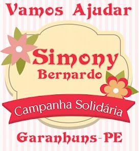 CONHEÇA A HISTÓRIA DE SIMONY BERNARDO E SE PUDER COLABORE COM A SUA LUTA PELA VIDA.