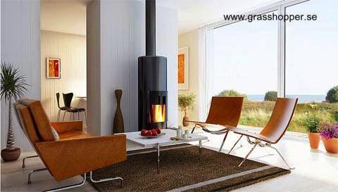 Sala de estar en la casa modular de playa