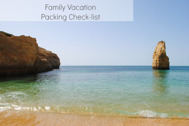 Family Vacation Packing Checklist Printable