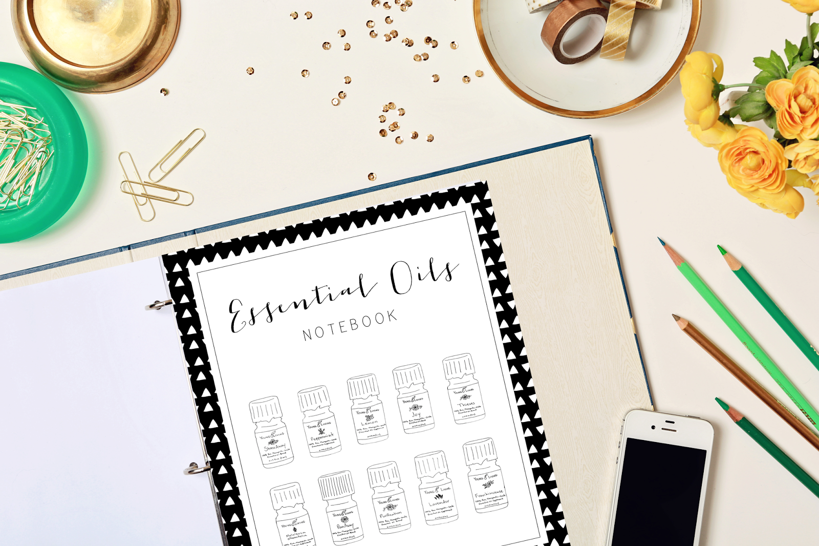 mrs prince and co essential oils printable notebook