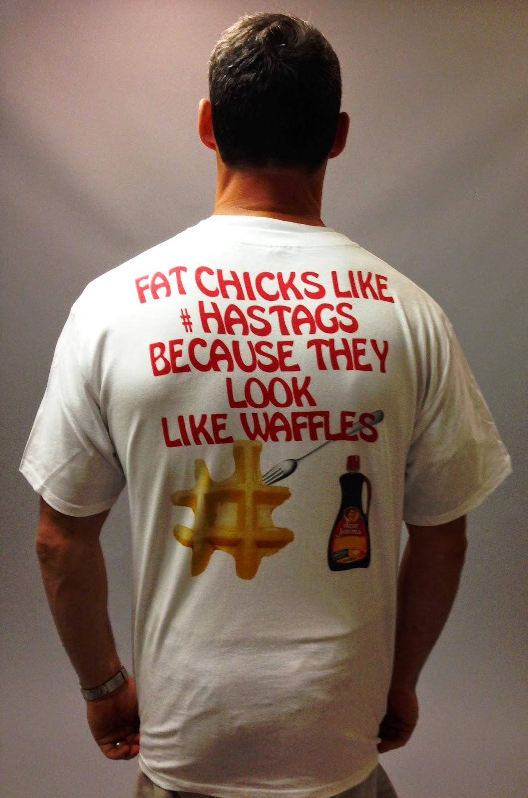 fat chicks like #hashtags because they look like waffles shirt