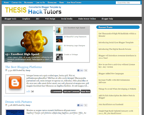 Thesis Blogger Theme