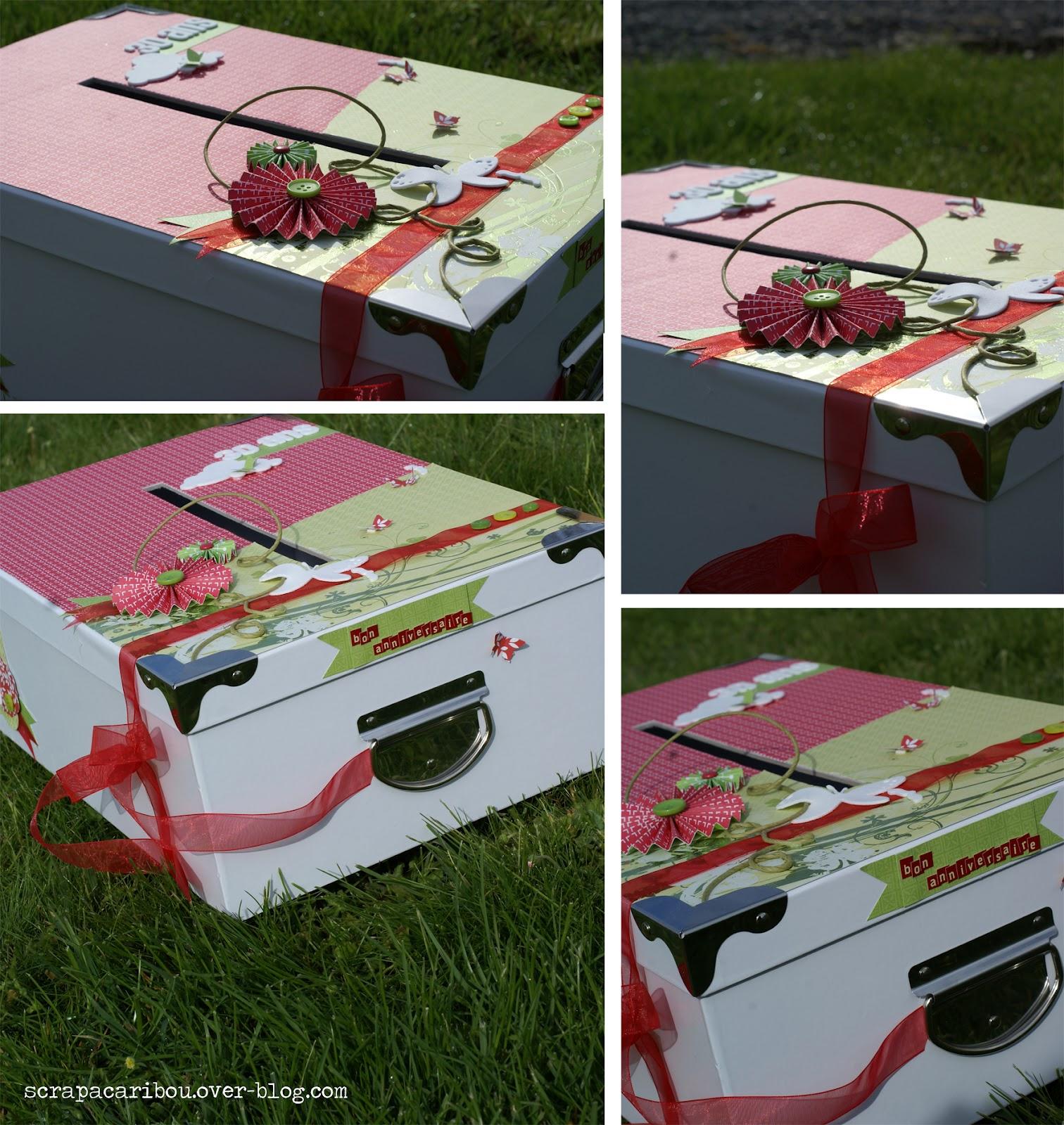 scrap rendez vous boite urne pour anniversaire virginie 39 s special box. Black Bedroom Furniture Sets. Home Design Ideas