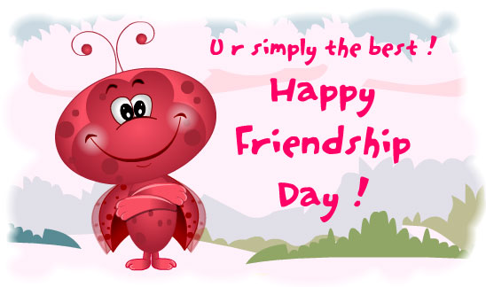 Download Free greetings cards: Cartoon FRIENDSHIP DAY greetings card
