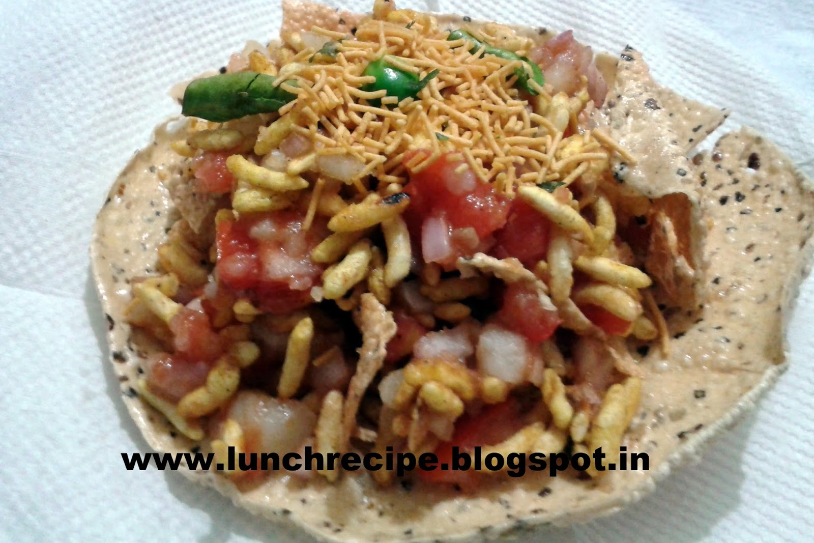 How to make Papad Bhel Revipe | पापड़ भेल - Papad Bhel