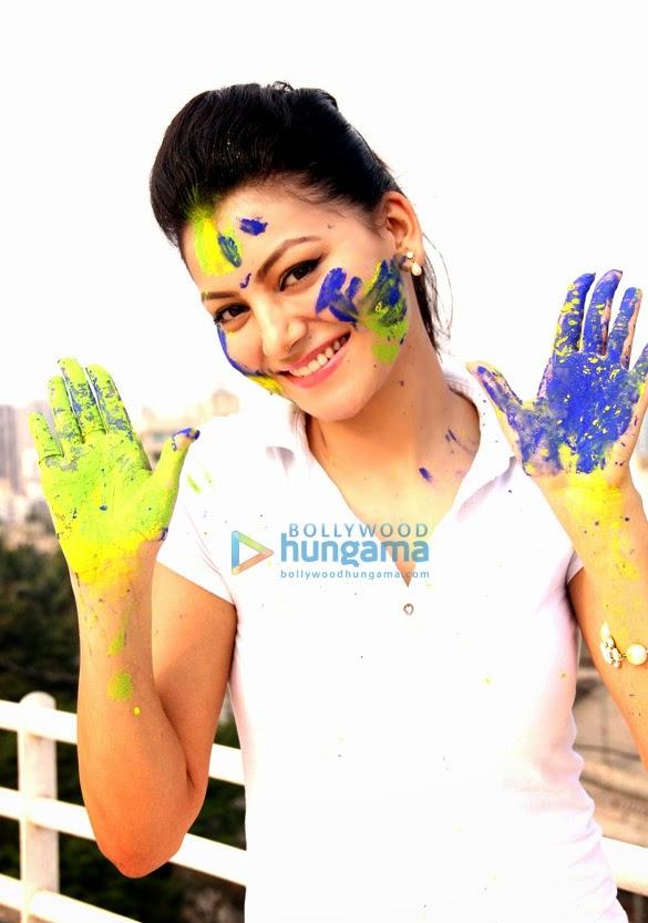 Urvashi Rautela celebrates Holi with friends