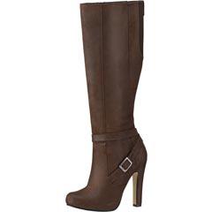 Zapato cerrado, bota cafe oscuro, dama, modelo 12319