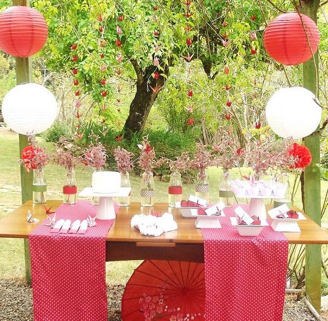 enfeites para jardim japones:fazer pompons para festa de papel de seda veja aqui