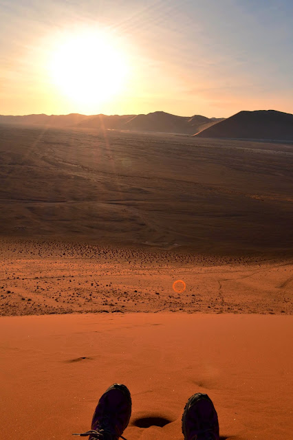 Sunset from the top of Dune 45, Sossusvlei