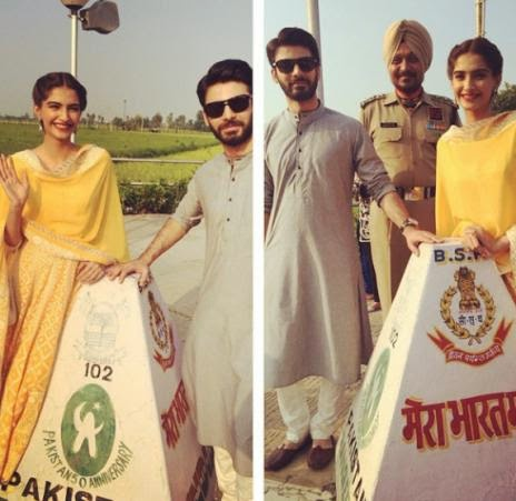 The Khoobsurat duo Sonam Kapoor and Fawad Khan at the Wagah Border