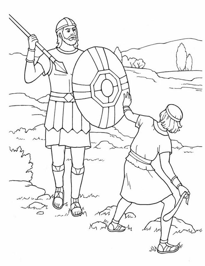 Imagenes Cristianas Para Colorear: Dibujos Para Colorear De David y ...