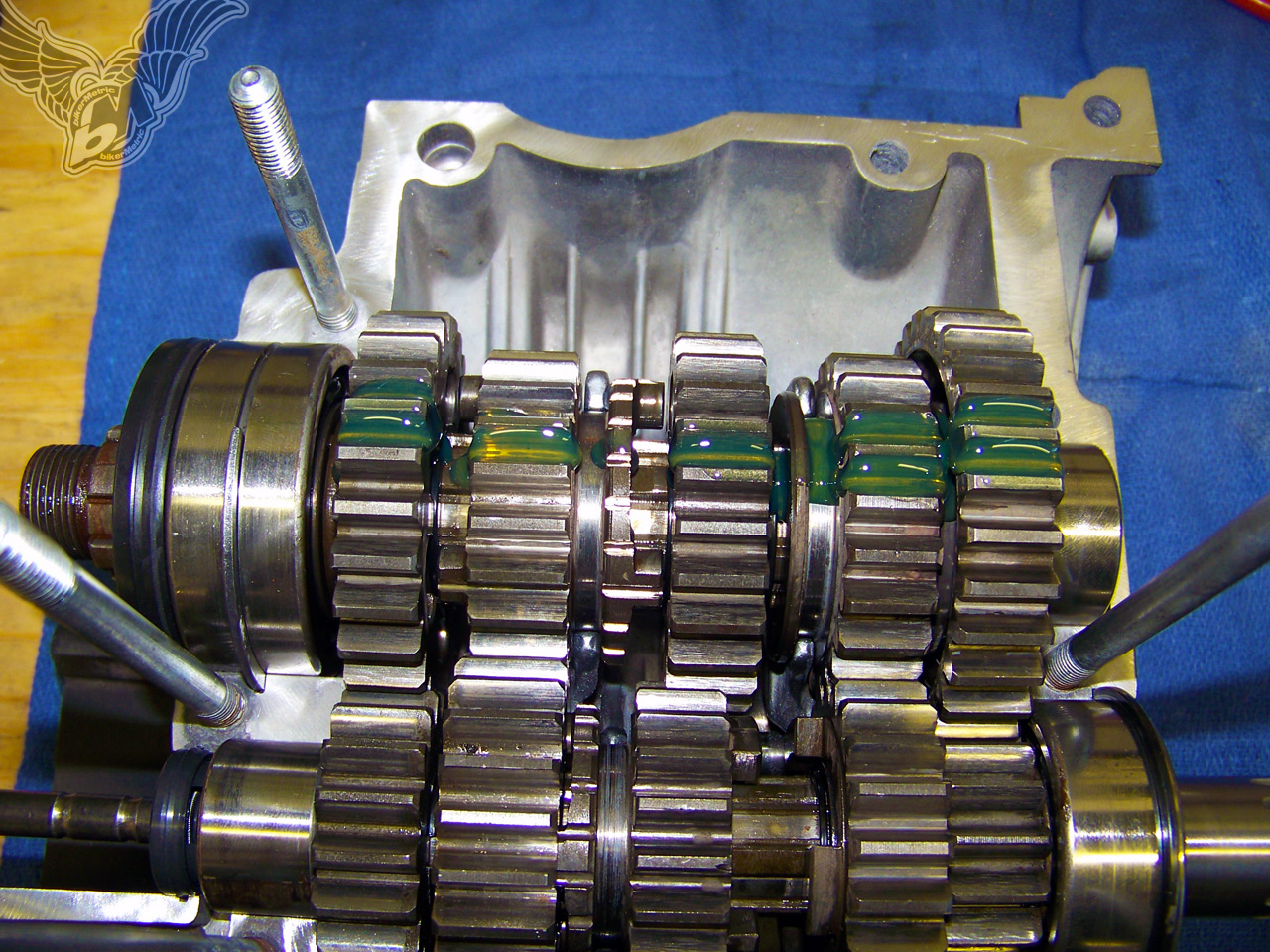 Techtips Xs650 Transmission Assembly By Hugh Owings Bikermetric 1981 Rephased Wiring Diagram We Are Now Ready To Put The Cases Together I Like Use Hondabond On My Yamaha Engines Im Weird That Make Sure You Something Similar But Do
