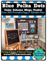 http://www.teacherspayteachers.com/Product/BLUE-POLKA-DOTS-Classroom-Color-Scheme-Theme-EDITABLE-33-Product-Bundle-1244012
