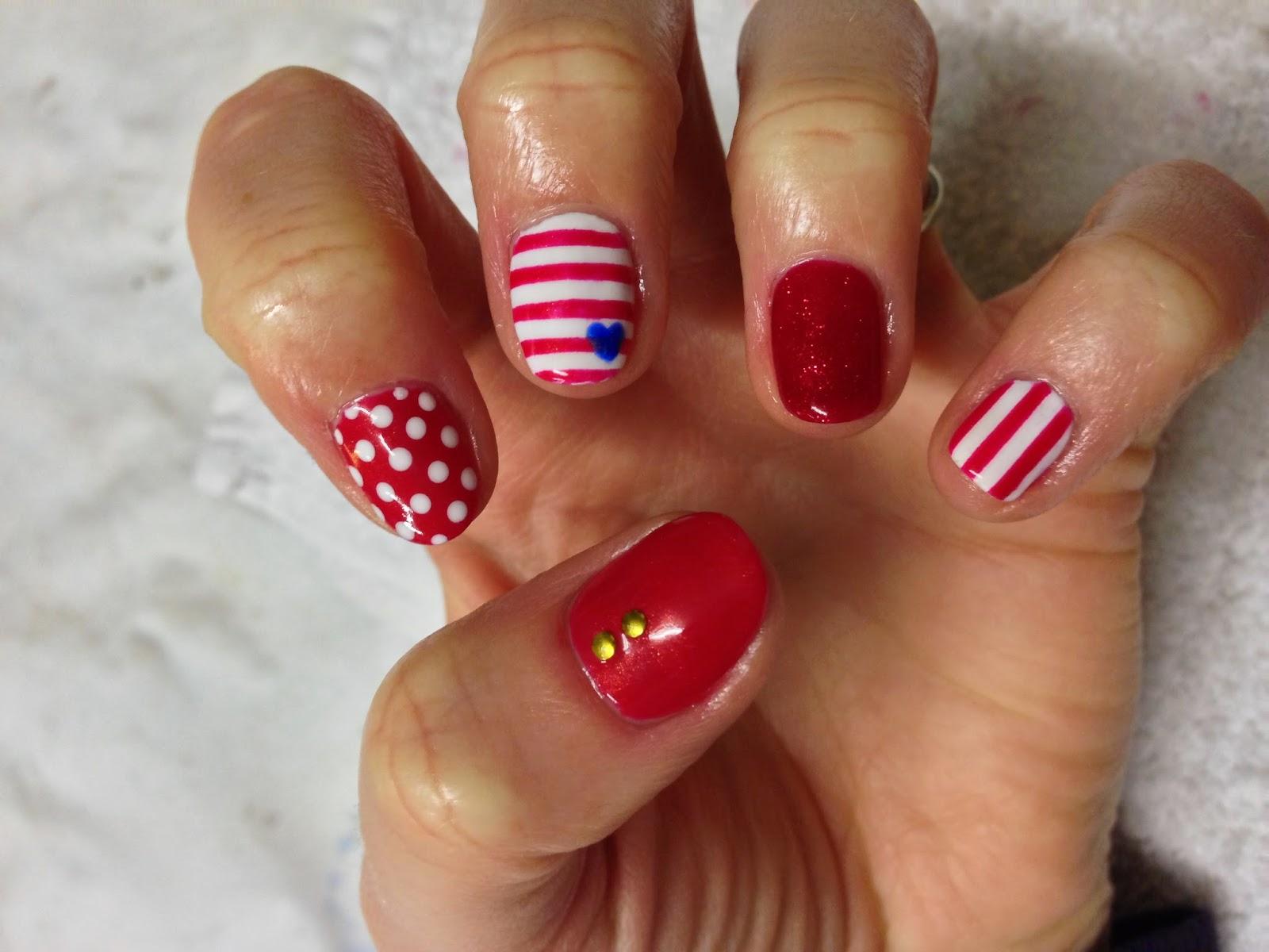 Brush Up And Polish Up Cnd Shellac Nail Art Nautical Nails