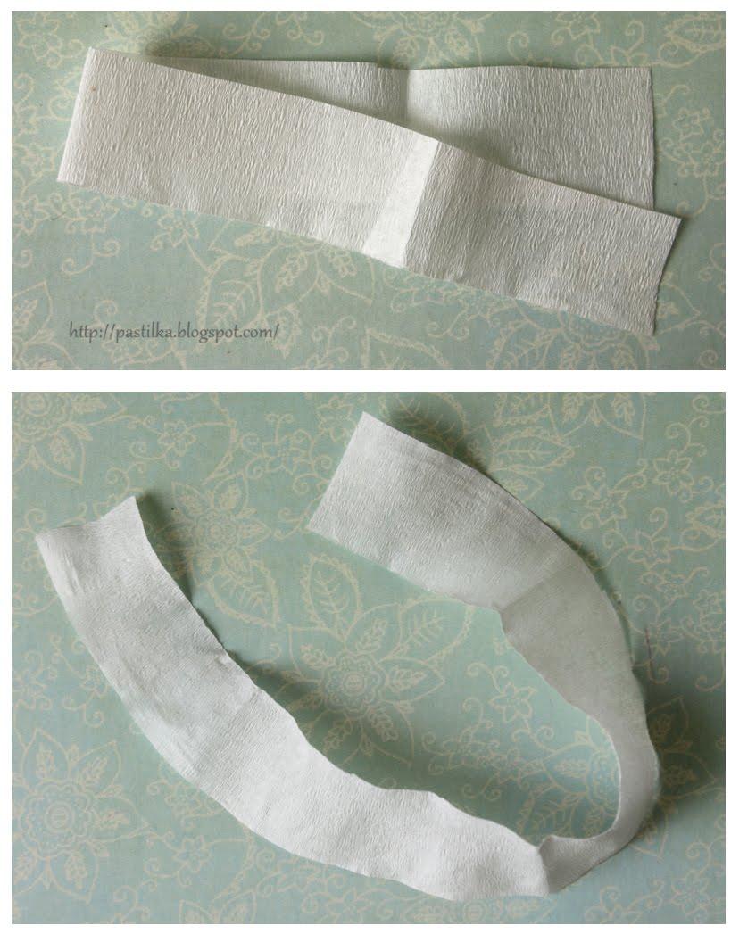 Плоский цветок из бумаги на до