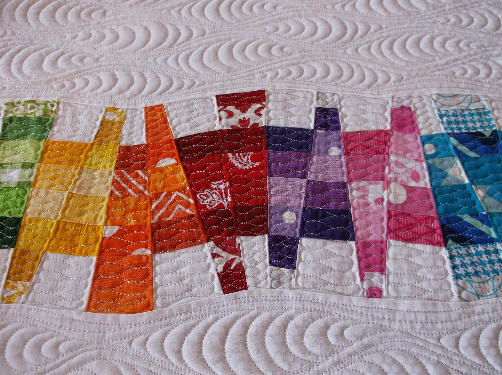 Creative quilting by debbie stanton modern quilt texture for Modern house quilts