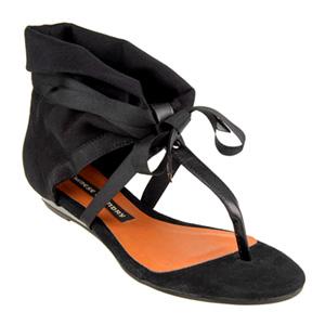chinese laundry sudoku sandal black - Black flat sandals