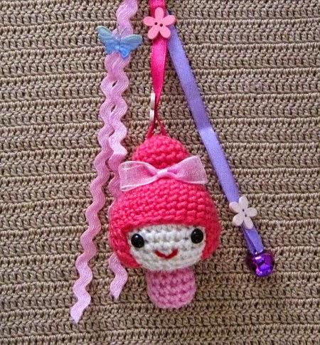 Amigurumi Maneki Neko Free Pattern : Attach a ribbon to the doll - Sayjai Amigurumi Crochet ...
