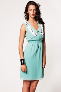 mini mavi elbise