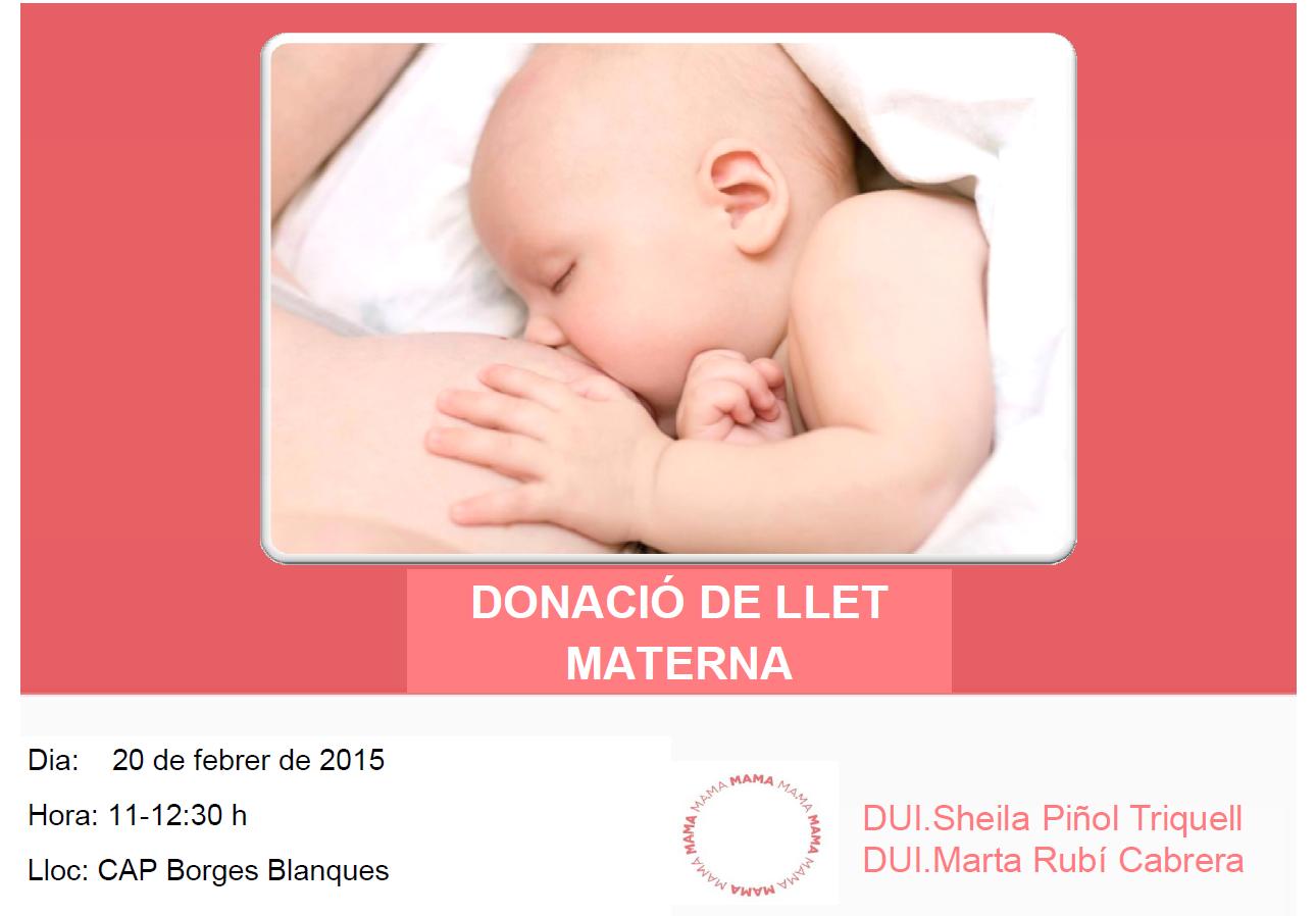 Donació de Llet Materna