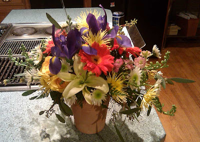 Birthday floral arrangement
