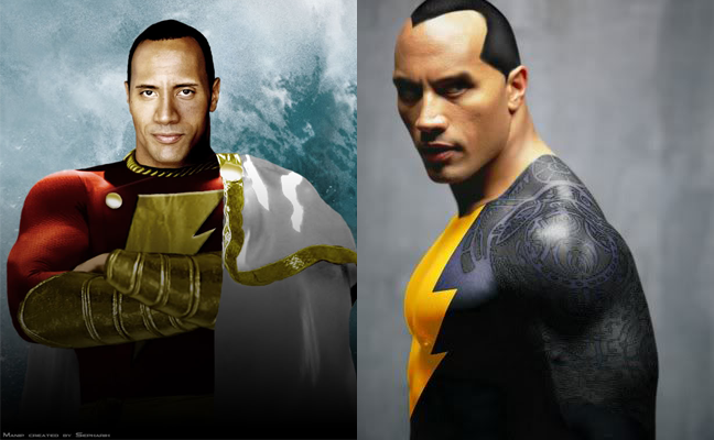 Captain Marvel Dwayne Johnson Shazam The Rock Black Adam