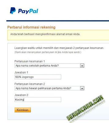 Pertanyaan Paypal