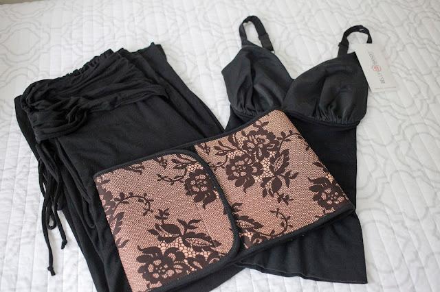 B.D.A Pants, Couture Black Lace Belly Bandit, Black Mother Tucker Nursing Tank