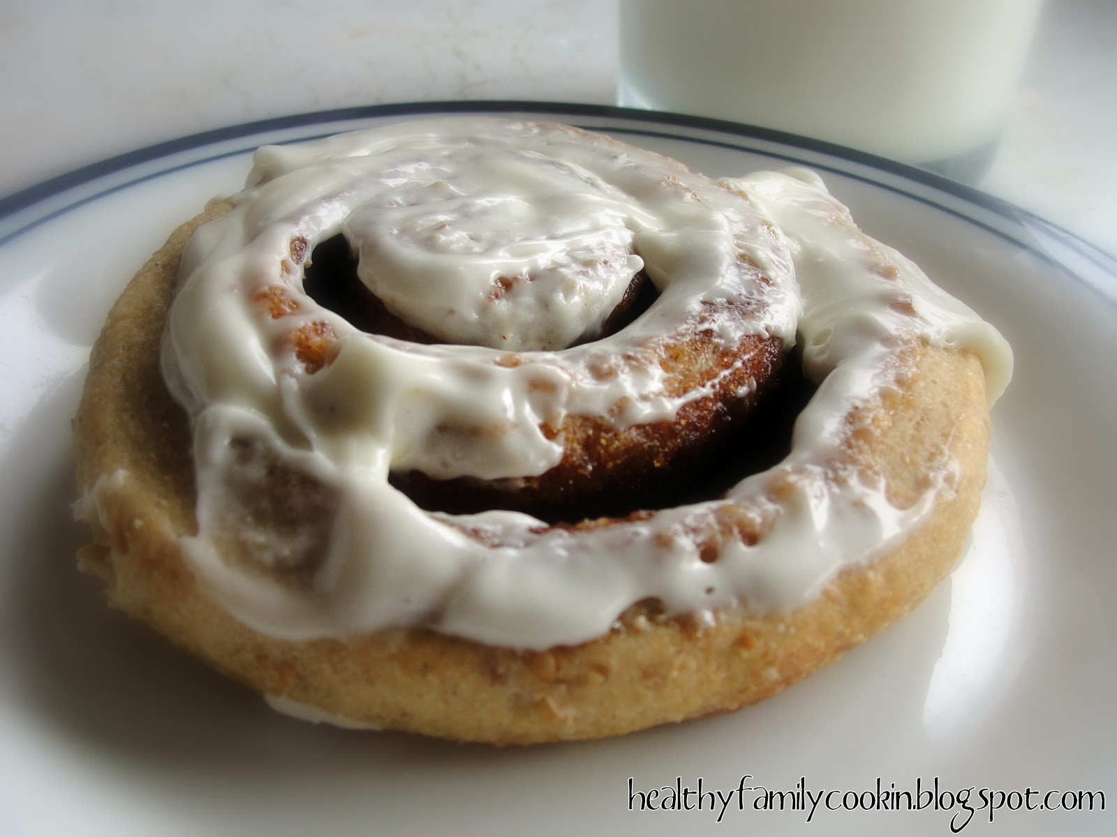 Healthy Family Cookin': Toasty Oat Cinnamon Rolls