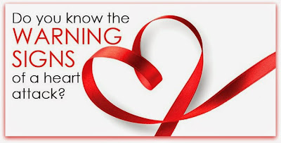 Heart Attack warning signs.