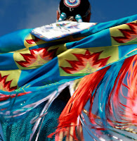 image of a native american dancer in traditional costume