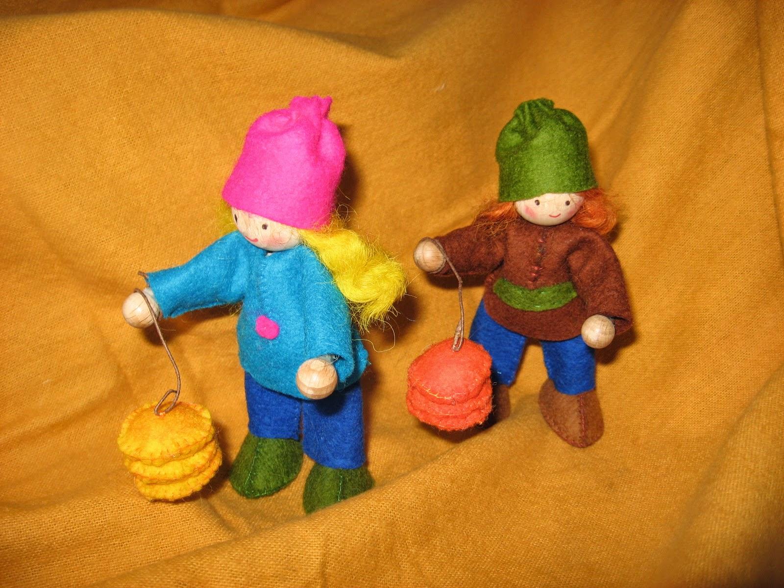 Sint maarten popje met lampion jaartafel herfst