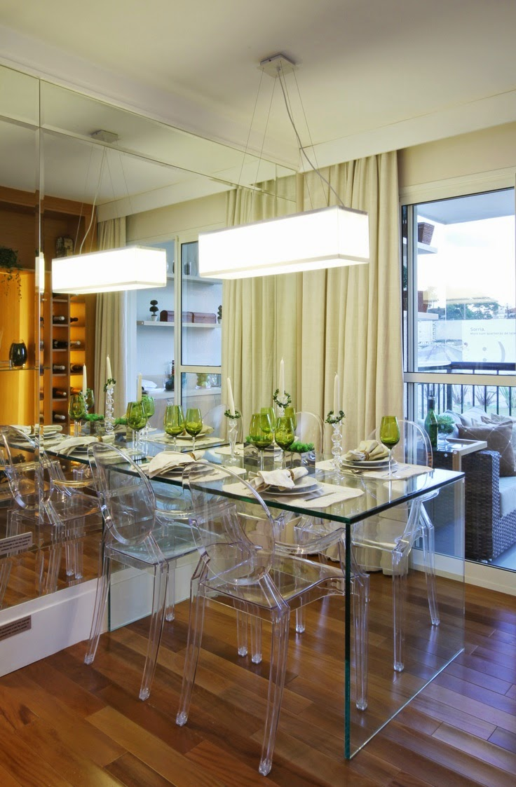 Mesa Em Parede ~ 20 Salas de jantar pequenas!! Jeito de Casa Blog de Decoraç u00e3o e Arquitetura