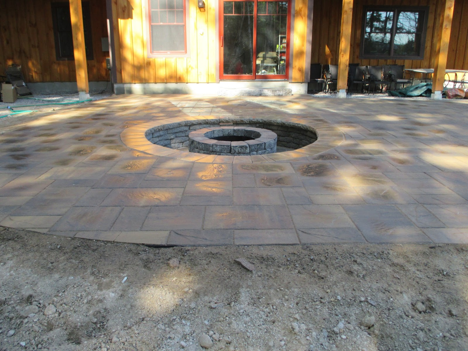 Natures Elite Landscaping Recessed Fire Pits In Nh Lakes