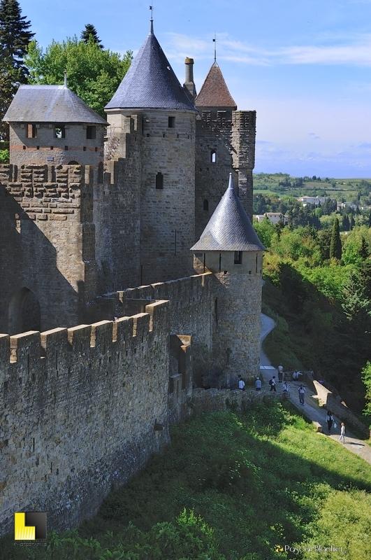 Carcassonne et les Pyrénées enneigées photo pascal blachier