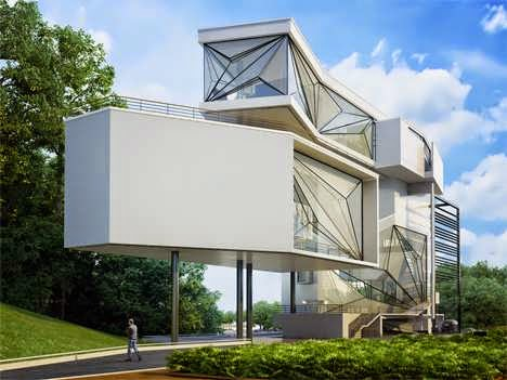 TOP 7 UNIQUE HOUSE DESIGN: MEGAMODERN HOUSE DESIGN TO FEELS LIKE IT'S FLOATING ON AIR IS ELEVATED ON A HILL BETWEEN A LAKE AND A SWIMMING POOL