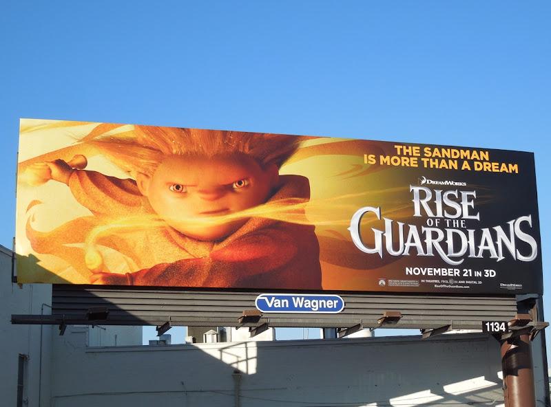 Sandman Rise of Guardians billboard